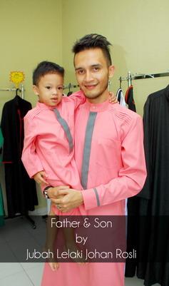 Jubah-lelaki-johan-rosli-akad-nikah-formal-anak-dan-bapa-set-jubah-2