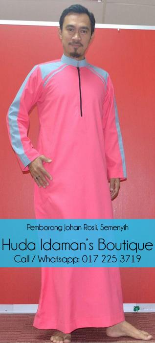 pemborong-pengedar-Jubah-lelaki-johan-rosli-di-semenyih-huda-idamans-boutique-pink