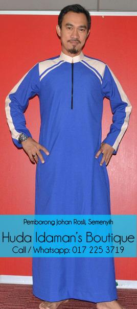 pemborong-pengedar-Jubah-lelaki-johan-rosli-di-semenyih-huda-idamans-boutique-royal-blue