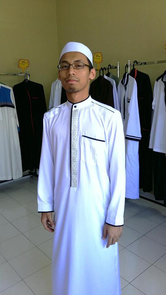 jubah lelaki kain songket