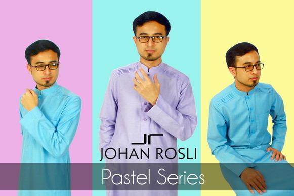 Jubah Lelaki Pastel Johan Rosli