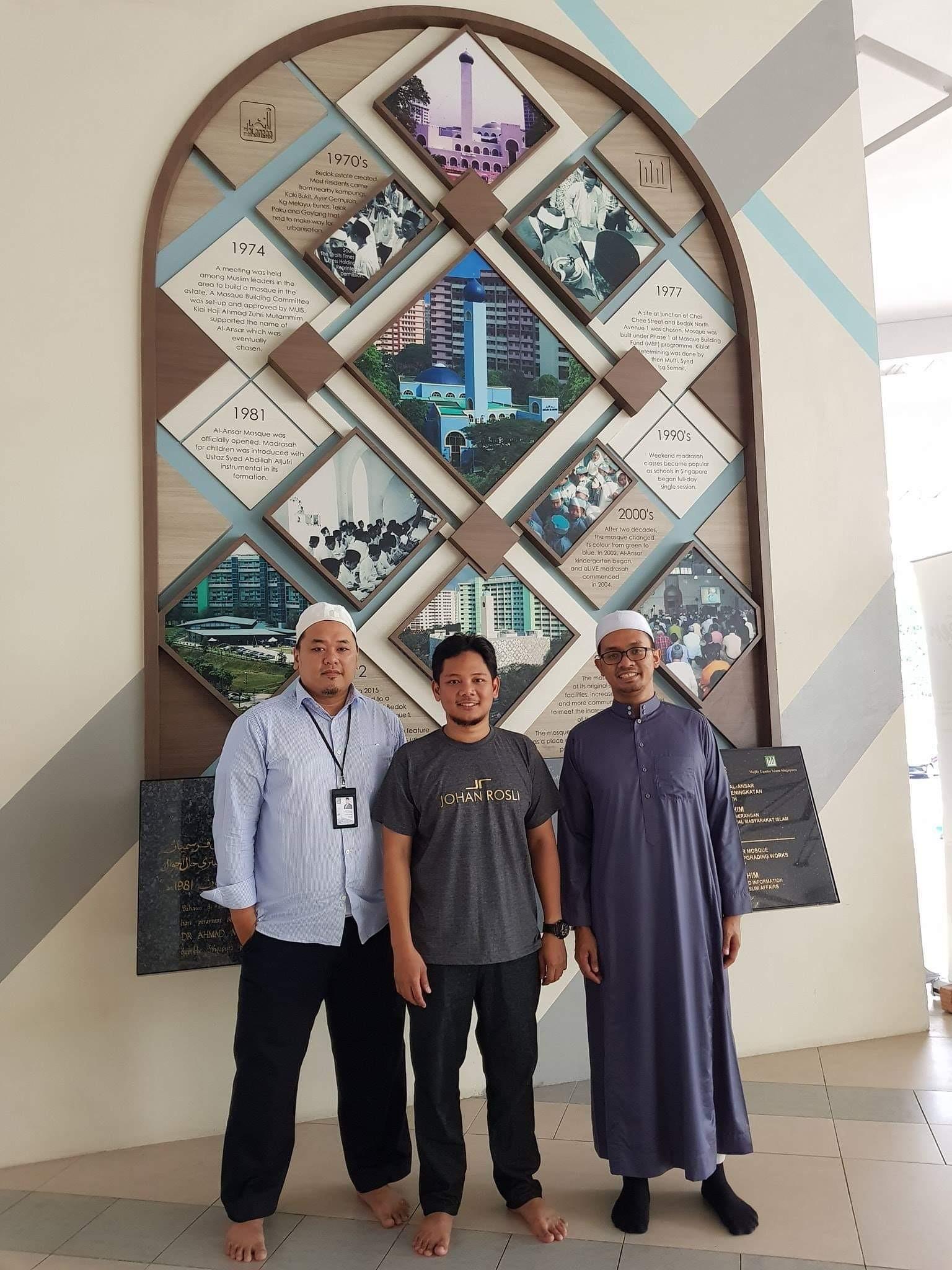 Tempahan jubah imam coat untuk masjid al-ansar bedok Singapura