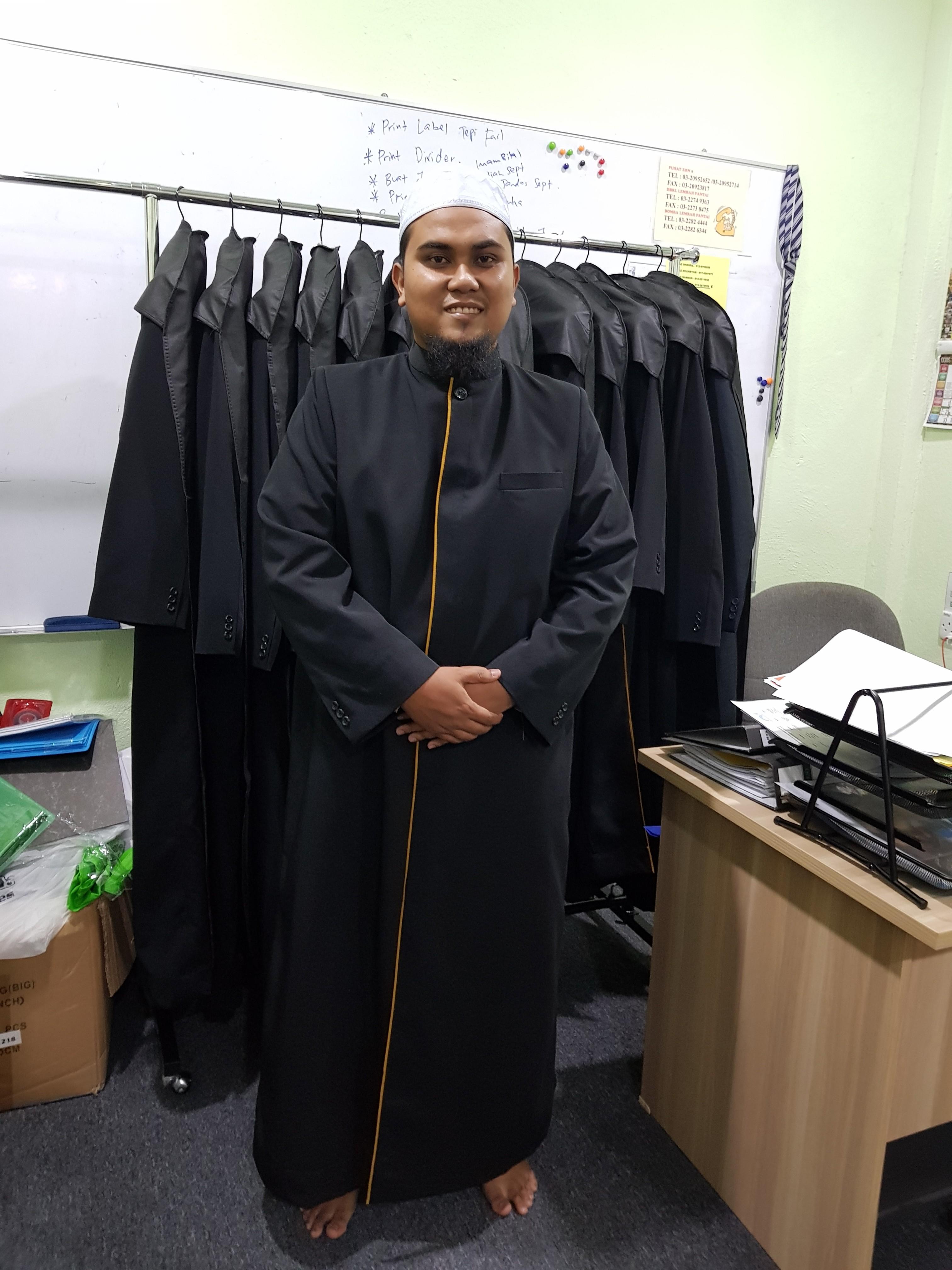 tempahan jubah imam coat imam thobe