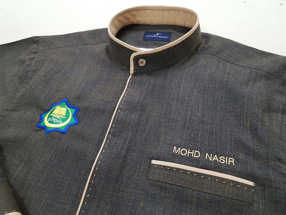 Baju Korporat Utk Maahad Tahfiz D Itqan. . Kain Cotton Linen Hand Stitch . #jubahlelakijohanrosli #johanrosli #bajukorporat #bajuraihan #bajukorporat #bajukorporattempah #bajukorporatraihan