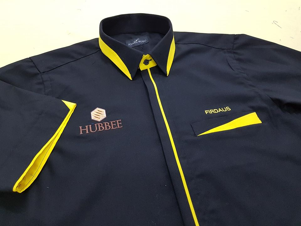Baju korporat utk Syarikat Madu Hubbee . #jubahlelakijohanrosli #johanrosli #bajukorporat #bajukorporattempah #hubbee