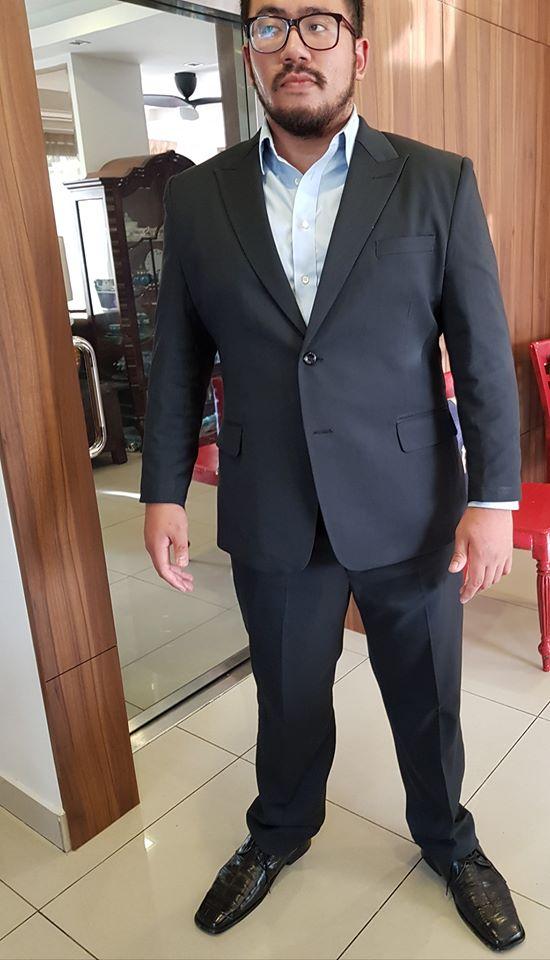 tempahan suit slim fit