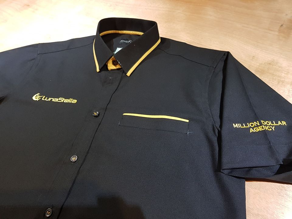 Tempahan kali kedua, Baju Korporat Utk Agency LunaStella AIA PJ.